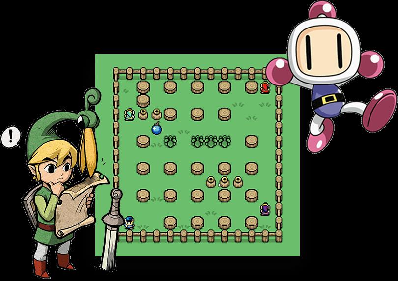 Bomberman style Zelda